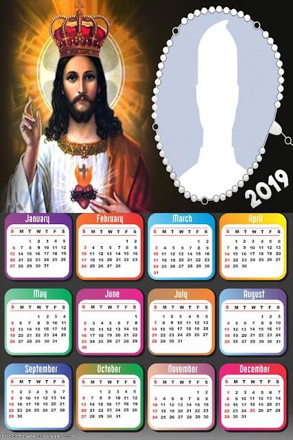 Jesús: Calendarios 2019 para Imprimir Gratis.