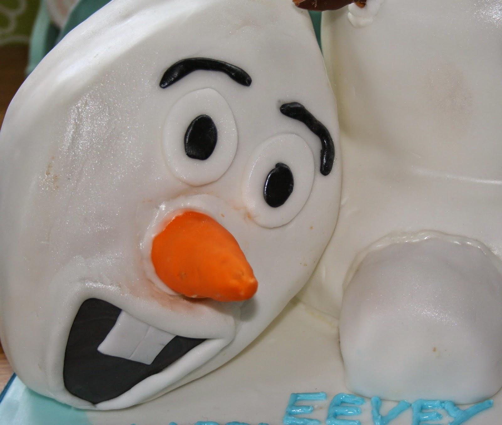 Groovy Chintzy Cakes Olaf Birthday Cake Birthday Cards Printable Inklcafe Filternl