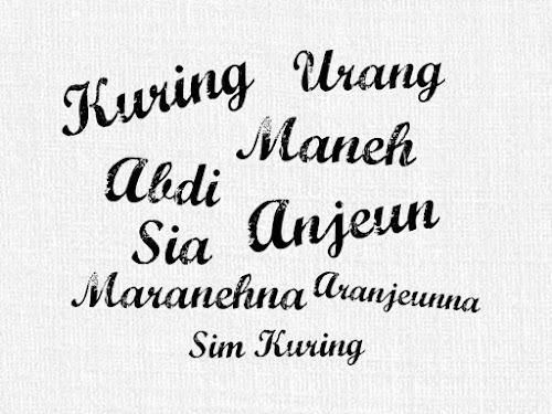 Kata ganti orang  dalam bahasa Sunda