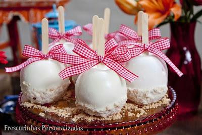 10 ideias receita maca maça do amor doce guloseima comida tipica tradicional festa junina candy apple especial junino gourmet chocolate branco sofisticada sofisticado