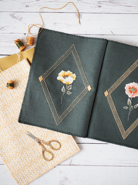 how to make an embroidery journal