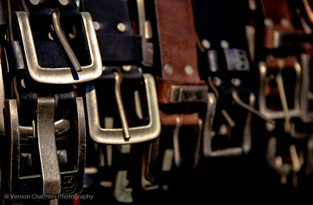 Belts and buckles - handmade by a very proud local leather craftsman