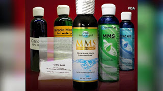 Miracle Mineral Supplement, Miracle Mineral Solution, Master Mineral Solution, MMS, or chlorine dioxide protocol, are not approved by the FDA.