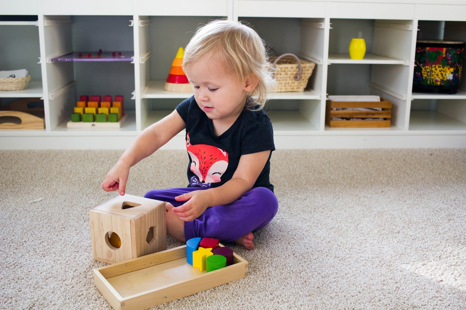 Shape Sorting Early Math For Toddlers