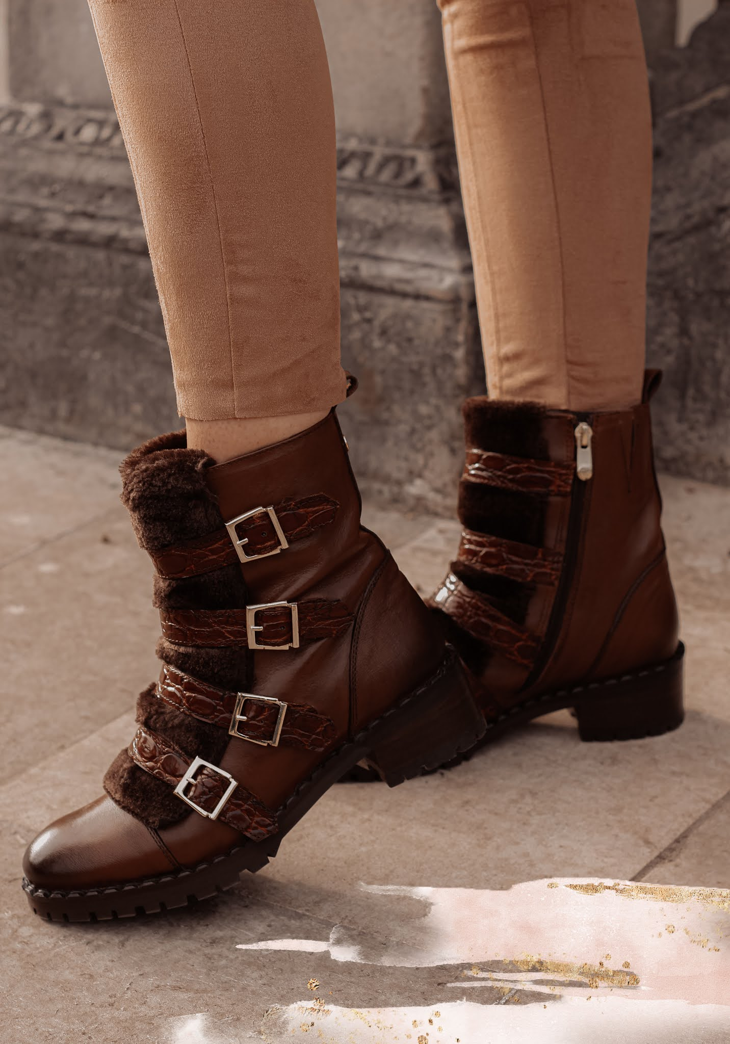 Moda in Pelle Channie Tan Ankle Boots