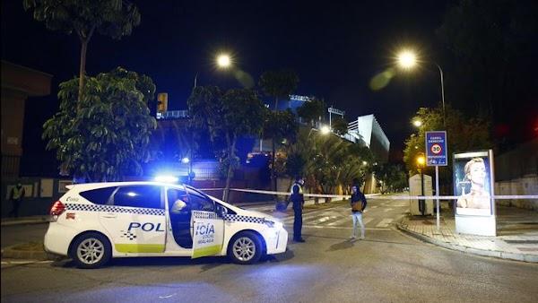 Cortan el acceso al estadio de la Rosaleda por la presencia de un coche sospechoso