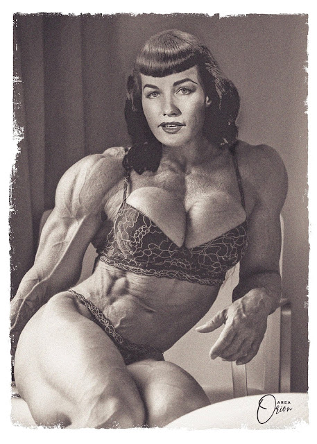 Bettie Page female bodybuilder muscles