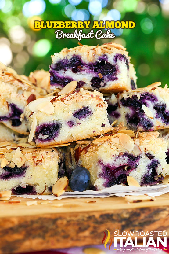 titled image for Pinterest (and shown): Blueberry Almond Butter Cake