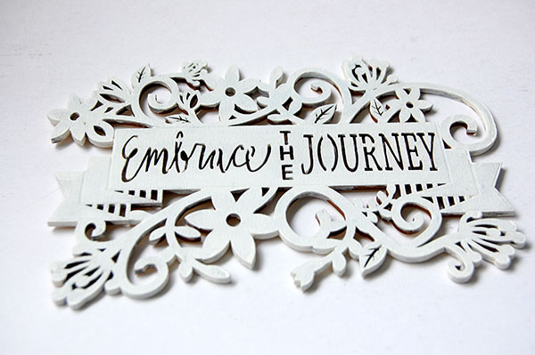 embrace the journey laser wood carving