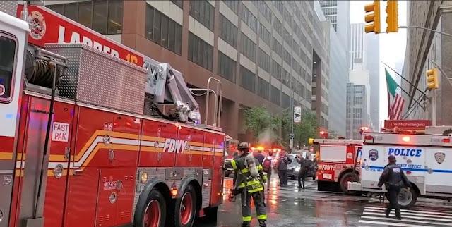 Helicopter crashes Manhattan New York