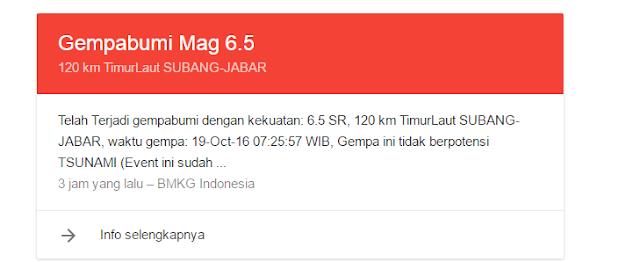 Hampir Seluruh Pulau Jawa Merasakan Getaran Gempa Bumi di Subang