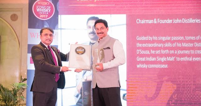 Paul John Single Malts wins big at 'Icons of Whisky India 2017' Awards!
