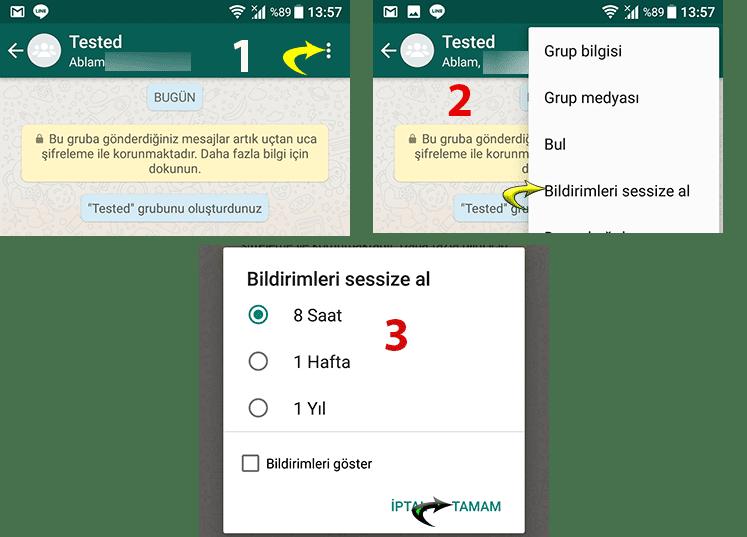 WhatsApp'da sohbetten ayrılmadan sohbet nasıl susturulur?