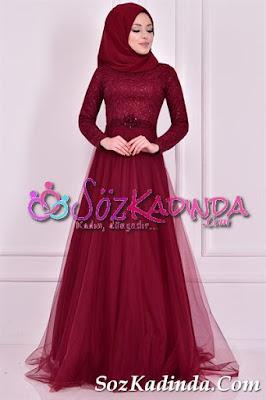 tüllü en güzel abiye elbise modelleri ve fiyatları