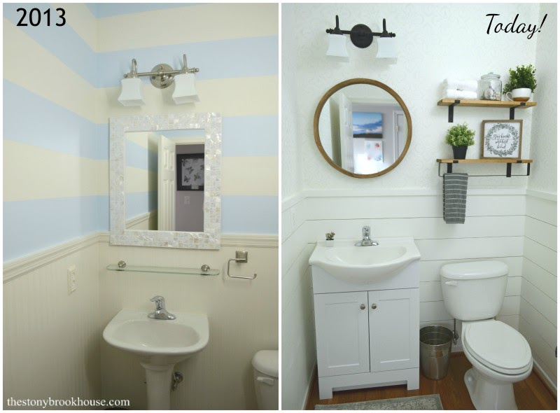 Powder Room Makeover Before and After