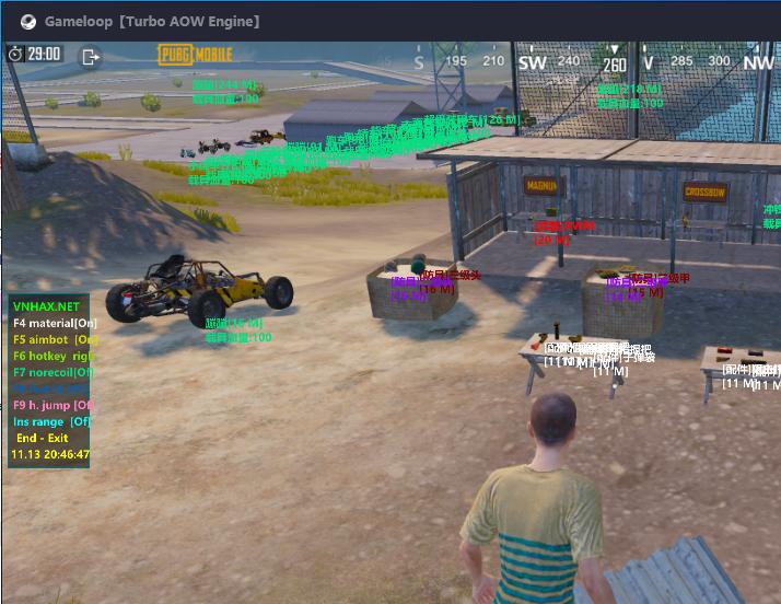 MK [Gameloop] Esp + Aimbot + No recoil... Pubg Mobile 0.15.5
