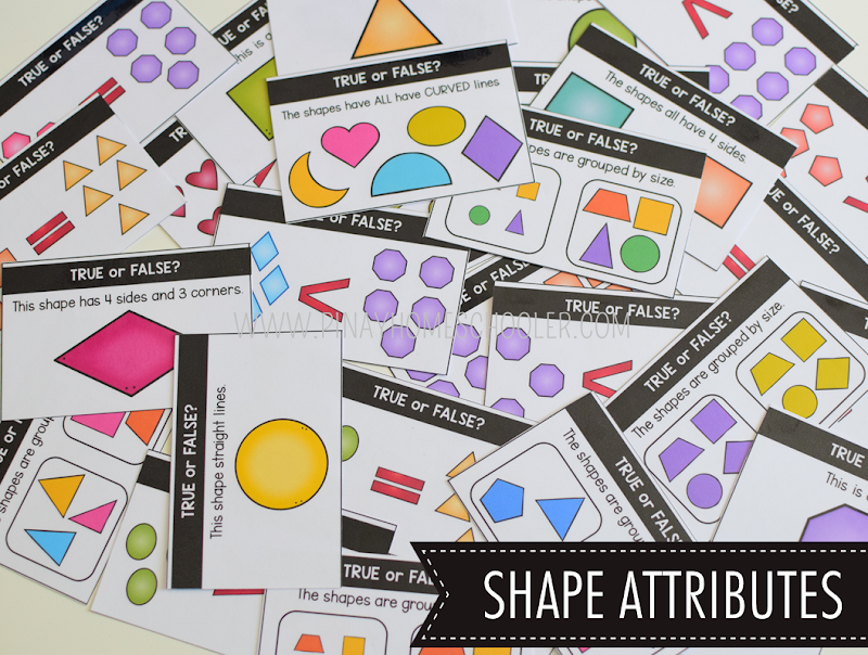 Kindergarten Math Shapes - Shape Attributes Activity