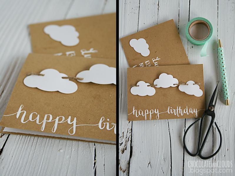 clouds birthday card diy
