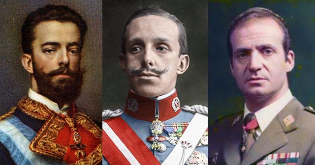 Amadeo, Alfonso y Juan Carlos