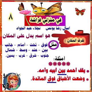 مذكرة شرح قصة في منزلي فراشة منهج الصف الثالث الابتدائي لغة عربية 2020