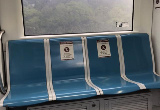 Il distanziamento sociale a bordo dei mezzi pubblici
