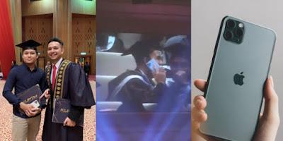 Wisudawan Dicibir Karena Pamer HP iPhone 11