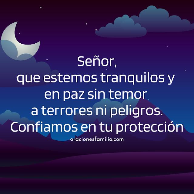 oración corta para que Dios nos de su protección en la noche