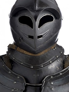 The Savoyard armour featured a helmet with eyes and a mouth