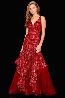 V-plunging prom/Maxi Dresses Amarra Rose Gold