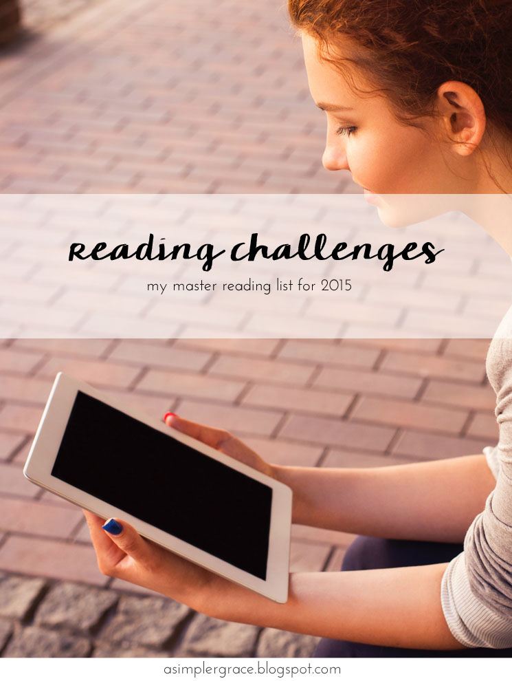 Reading Challenges for 2015 | The List - A Simpler Grace