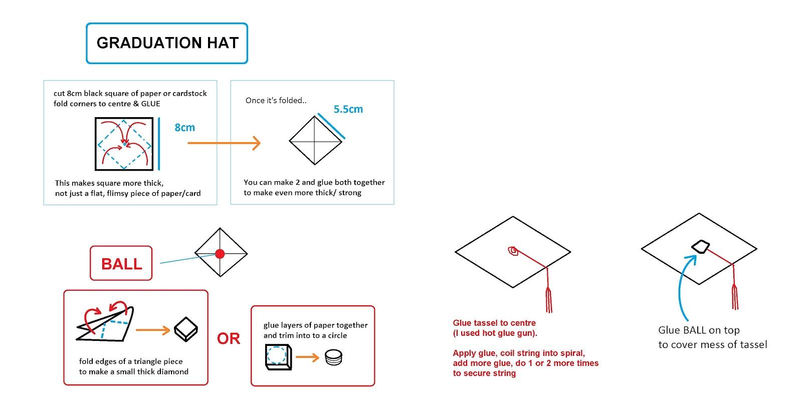 Origami Dollar Graduation Hat