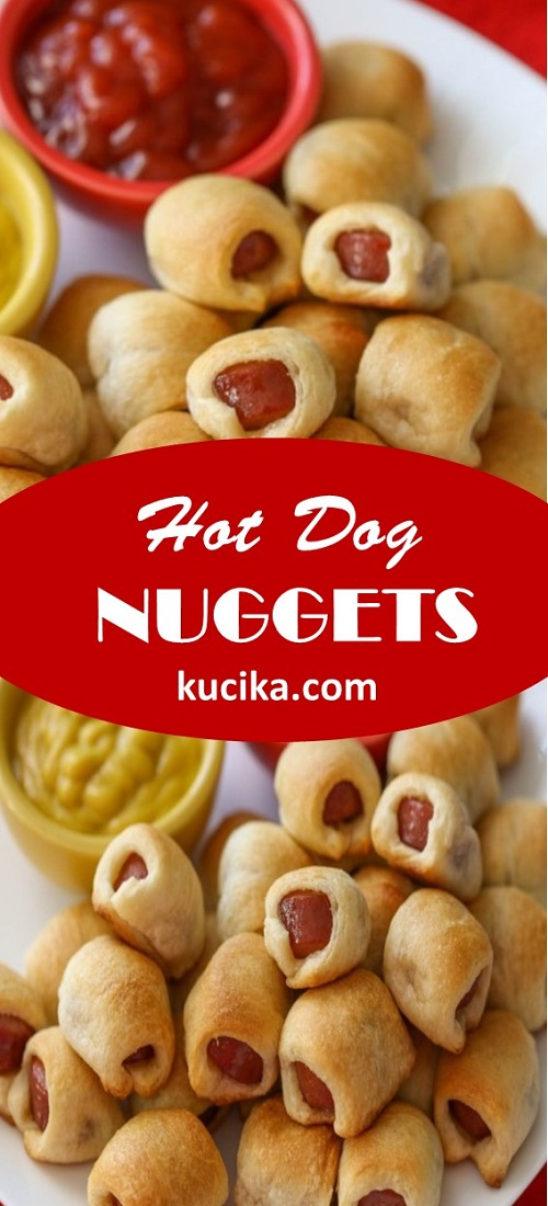 Hot Dog Nuggets #lunch