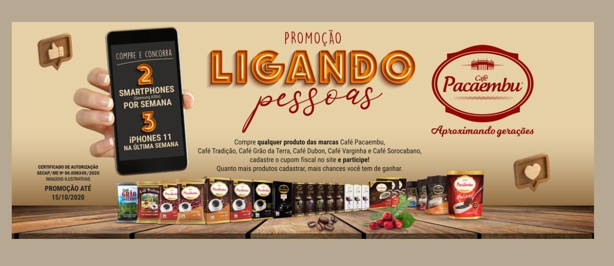Promoção Café Pacaembu 2020 Ligando Pessoas   - Iphones 11 e Smartphones