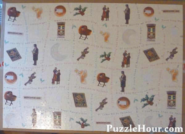 Back reverse side double-sided The Night Before Christmas Waddingtons 1997 jigsaw puzzle