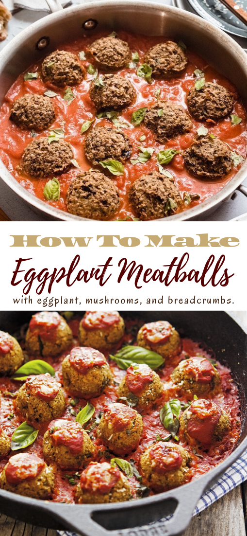 Eggplant Meatballs #food #lunchrecipe #vegan #vegetarianrecipe #easyrecipe