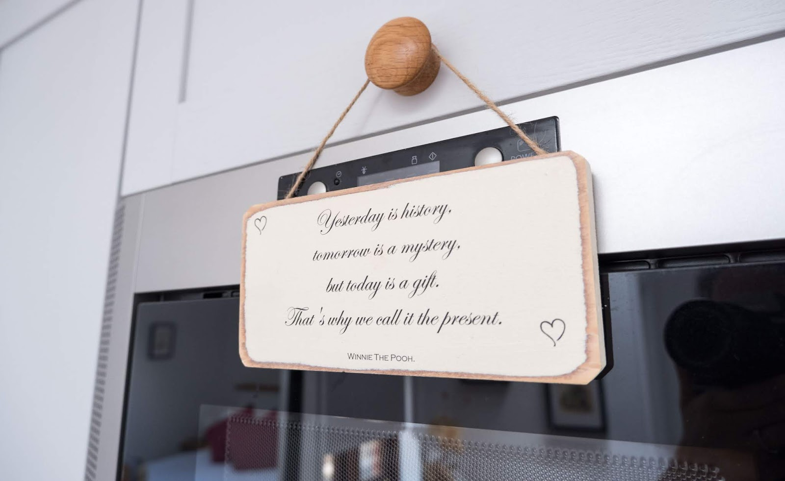A Winnie the Pooh quote in the kitchen at the Hundred Acre Wood studio