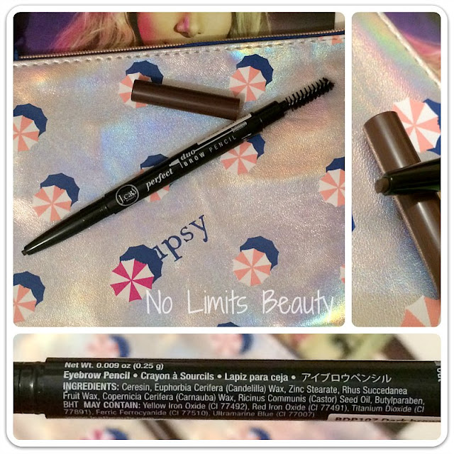 Ipsy Julio 2016 - J.Cat. Beauty - Perfect Duo Brow Pencil in Dark Brown