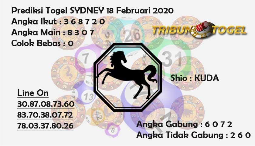 Prediksi Togel Sidney JP 18 februari 2020 - Prediksi Tribun Togel