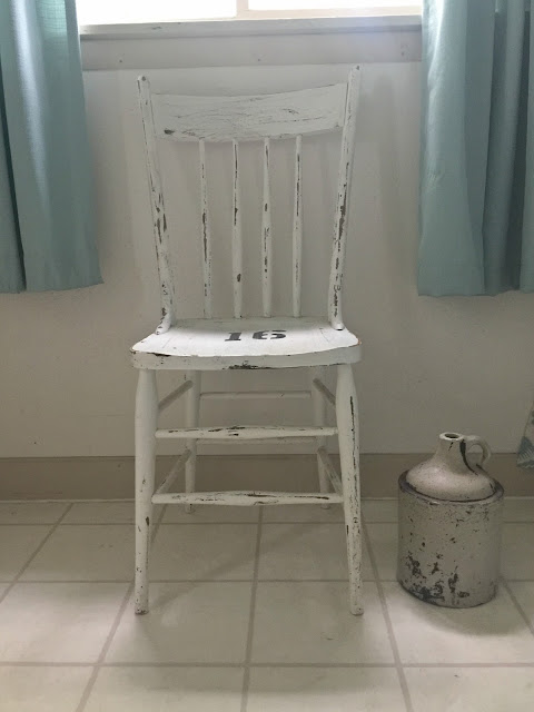 White Painted Antique Chair
