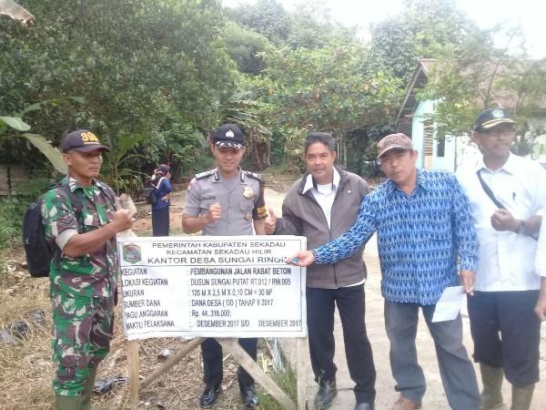 Peninjauan Kegiatan Pembangunan Desa Sungai Ringin