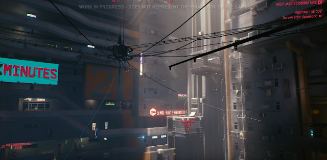 Cyberpunk 2077 2nd Amendment building sign