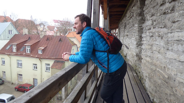 Taking in the views on the city wall, Old Town Tallinn