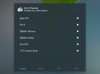 GNOME Shell Internet Radio extension