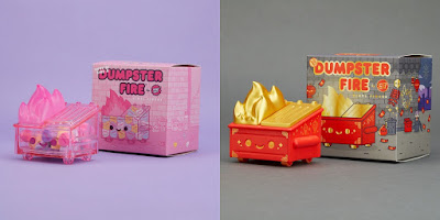 Valentine's Day & Lunar New Year Dumpster Fire Vinyl Figures by 100% Soft
