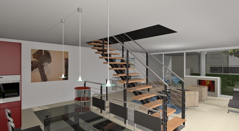 Tips Desain Tangga Rumah Dua Lantai | Rumah Minimalis ...