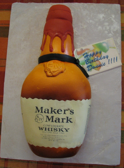 Liquor Bottle Birthday Cake u7h