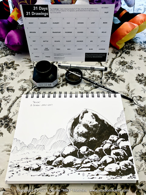 Inktober Calendar and Day 8 Drawing