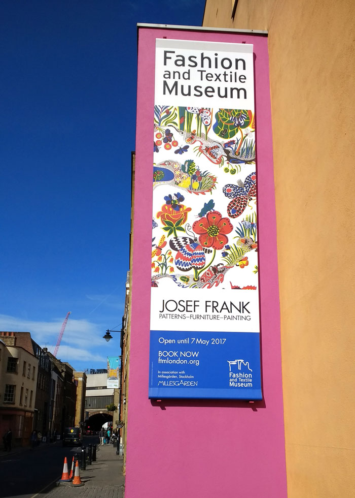 Josef Frank At The Fashion And Textile Museum London On Kim Dellow's Blog