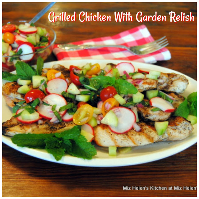 Grilled Chicken With Garden Relish at Miz Helen's Country Cottage