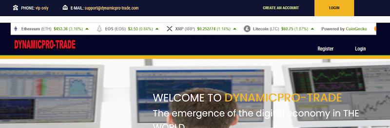 Мошеннический сайт dynamicpro-trade.com – Отзывы, развод. Dynamicpro Trade мошенники